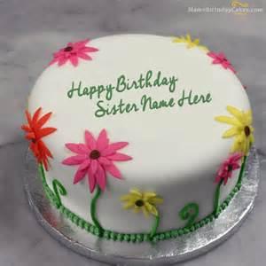 lovely birthday cake for sister