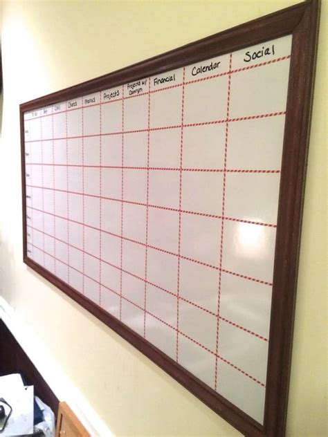 how to make a calendar on your whiteboard how to make a big diy whiteboard to get organized