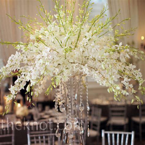 Dendrobium Airy Gold kelsee s evantine design purple lighting white wedding the floral arrangements used