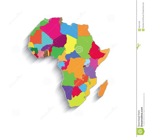printable puzzle map of africa africa political colors map paper 3d individual st stock