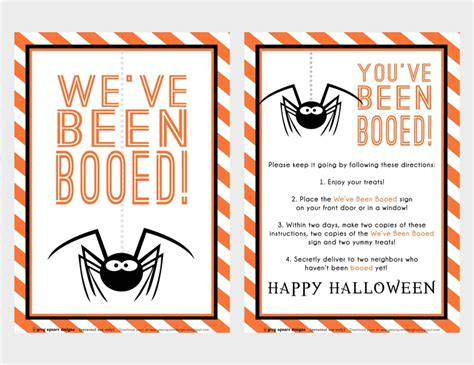 printable you ve been booed poem booed printables images reverse search