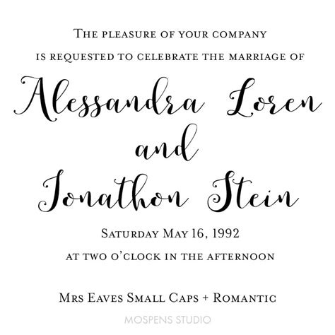 wedding font mrs eaves small caps mrs eaves small caps wedding fonts custom