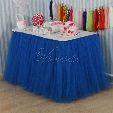 Diy Tutu Table Gorgeous Decorating by Royal Blue Tulle Tutu Table Skirt Custom Tulle