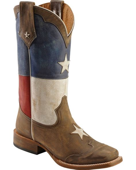 roper flag cowboy boots square toe country outfitter