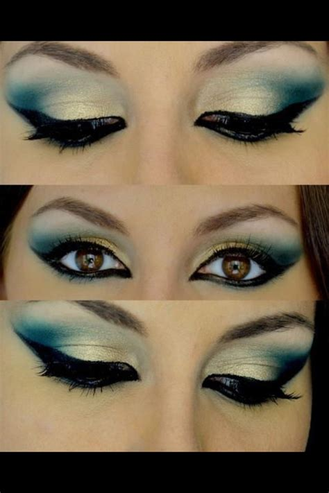 12 gorgeous blue and gold eye makeup looks and tutorials pretty designs