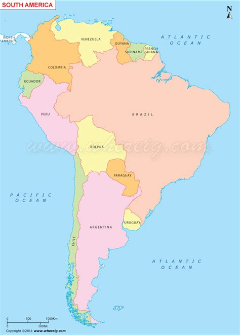american map with countries and capitals map of south america countries and capitals