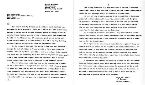 einstein szilard letter atomic heritage foundation