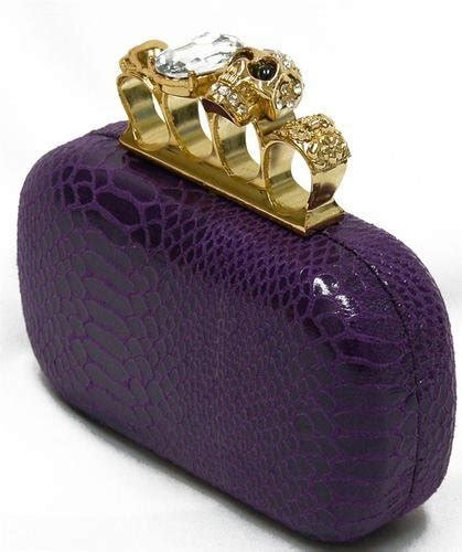 20348 Black Gold Skull Handbag price tracking for h12019 purple gold skull knuckle ring black evening purse clutch handbag bag