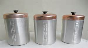 aluminum metal retro nesting kitchen canisters silver by mothrasue