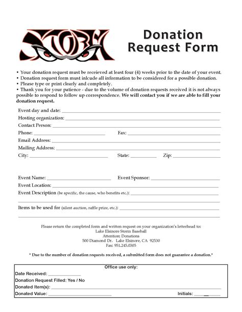 donation form exle selimtd