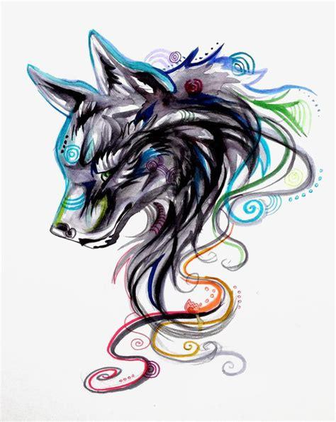 wolf painted wolf wolf graffiti wolf avatar png image