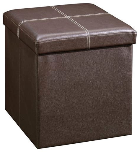 Small Ottoman Seat Sauder Beginnings Small Ottoman In Seating Brown