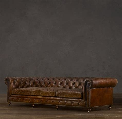 restoration hardware kensington sofa the leather sofa