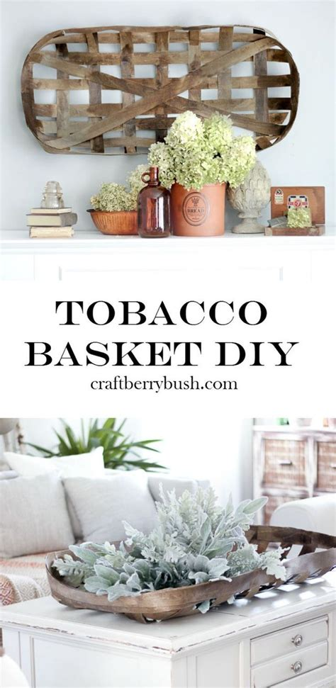 learn     tobacco basket home decor