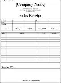 sales receipt template download page word excel formats