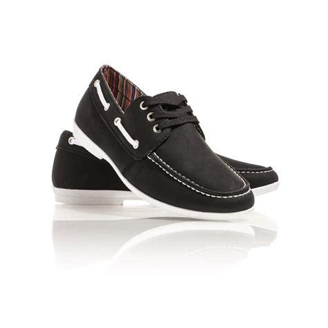 chaussures et baskets chaussures bateau homme noires blz