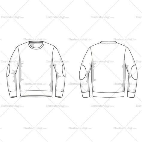 sweatshirt template illustrator s sweater fashion flat template illustrator stuff