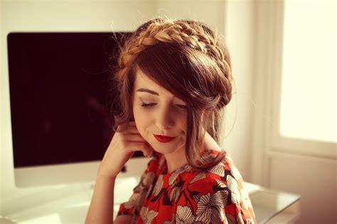 zoella hairstyles braids milkmaid braid zoella beauty fashion lifestyle blog