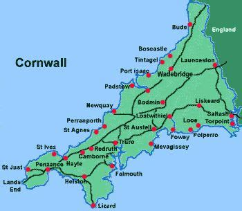 map uk cornwall best 25 map of cornwall ideas on cornwall map