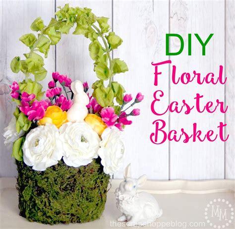 Floral Baskets by Diy Floral Easter Basket The Scrap Shoppe