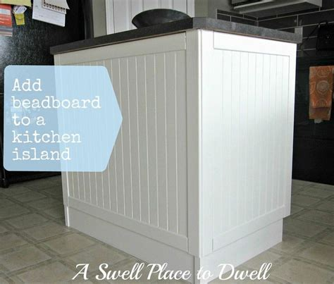 how to add beadboard to cabinets adding beadboard to a kitchen island