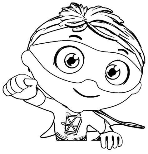 Super Why Coloring Pages Best Coloring Pages For Kids Printable Color Page
