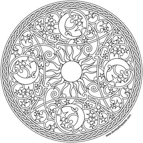 mandala coloring book outfitters don t eat the paste celestial mandala 2016