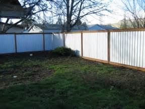privacy fence out of corrugated metal backyard ideas pinterest