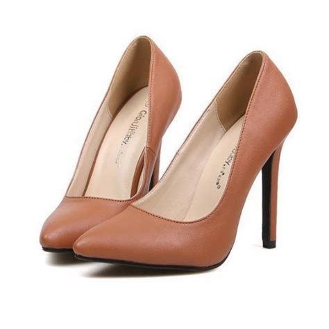 brown high heel brown high heel court shoes