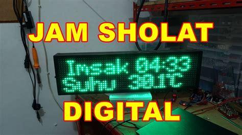 Jadwal Sholat Digital Jadwal Waktu Sholat Jsd0260110rt modul jadwal sholat digital mini