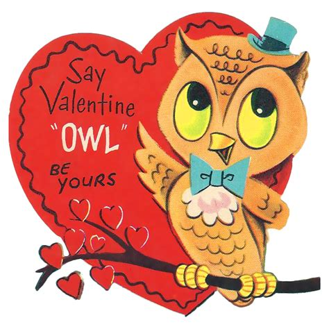 owl valentines day the happy quot owl quot be yours vintage