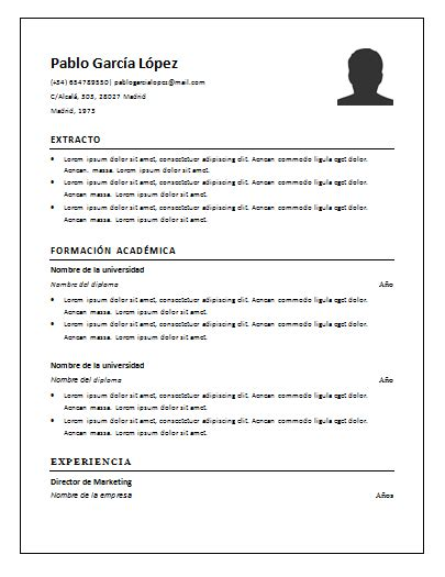plantillas de curriculum vitae para rellenar newhairstylesformen2014 plantilla curriculum vitae en word para rellenar gratis