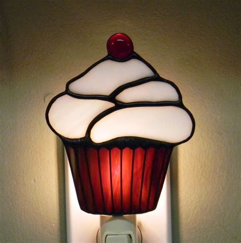 10 Stained Glass Cupcakes From Etsy Including Night Cupcake Lights