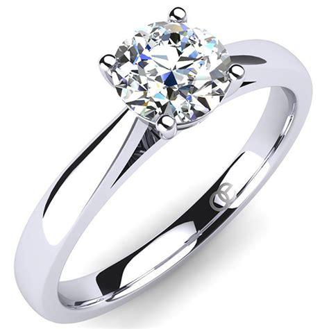 Preiswerte Verlobungsringe by Md Verlobungsring Silber Swarovski Kristall Solitaire