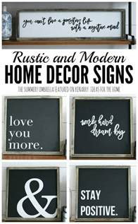 How To Make Home Decor Signs rustic and modern home decor signs giveaway