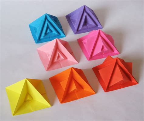 Origami Pyramids - the world s best photos of origami and piramide flickr