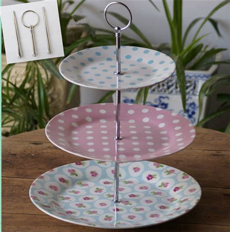 etagere obst cheap shipping 3 tiers style cake stand rods ceramic