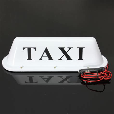 Taxi Light by White Waterproof Taxi Magnetic Base Roof Top Car Cab Led Sign Light L 12v Pvc Ebay