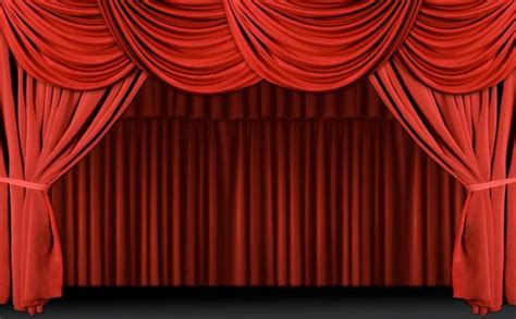 stage red curtains about csm
