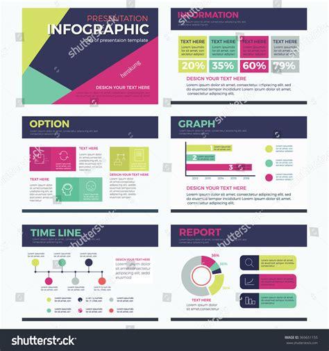 Set Infographic Presentation Template Powerpoint Modern Illustrator Presentation Templates
