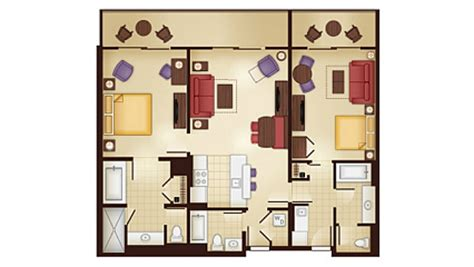 Kidani Village 2 Bedroom Villa Floor Plan by Animal Kingdom Villas Kidani Village Dvc Rental Store