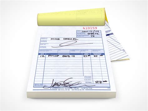 receipt book template psd notepad006 market your psd mockups for notepad
