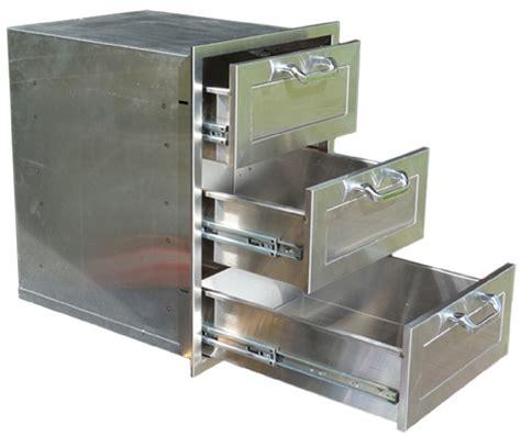 bbq island 3 pcm bbq island 3 drawer stainless steel 260r series