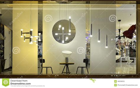 illuminazione shop led lighting shop window stock image image of room ls