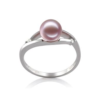 Tania Lavender by 6 7mm Aaaa Quality Freshwater Cultured Pearl Ring In