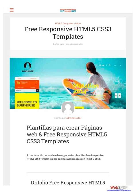 css3 templates free free responsive html5 css3 templates free responsive html5