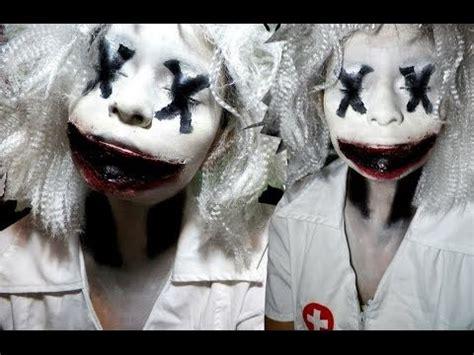 scary clown halloween makeup tutorial youtube