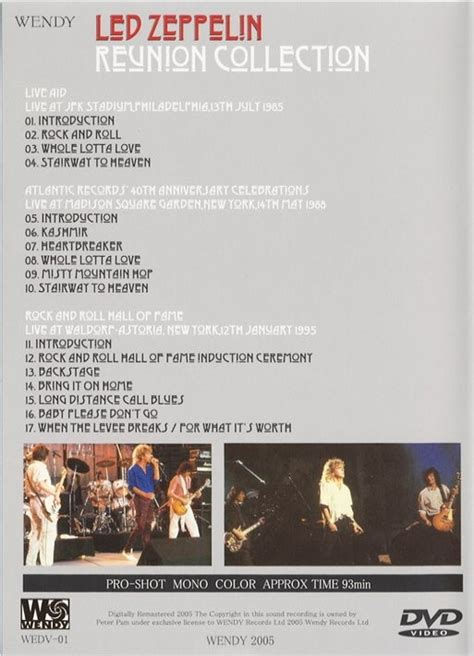 led zeppelin dvd reunion collection