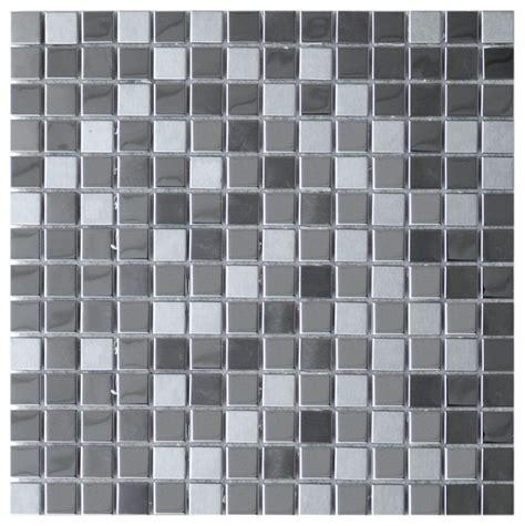 random pattern mosaic tile random pattern mirror and brushed mosaic steel tile