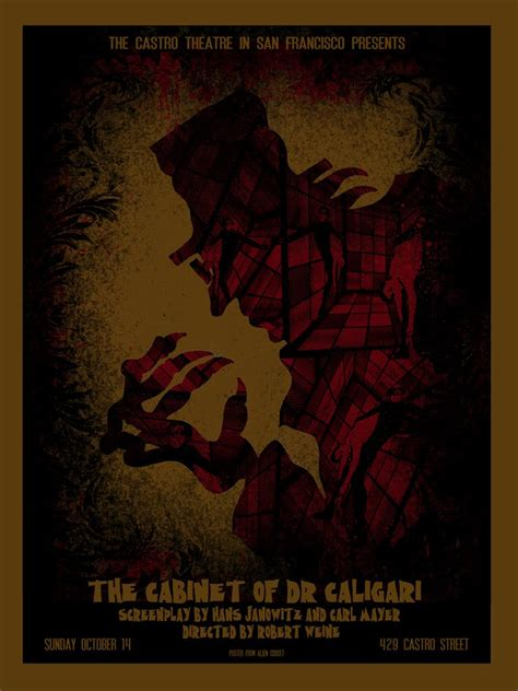 the cabinet of dr caligari poster posters